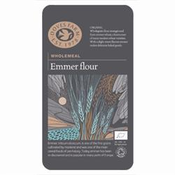 Emmer Flour Wholemeal Stoneground Organic (order 5 for trade outer)