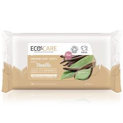 10% OFF ECOCARE Organic Baby Wipes, Vanilla. 60 Wipes. (order in singles or 6 for retail outer)