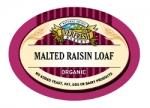 Organic Malted Raisin Loaf 290g (order in singles or 8 for trade outer)