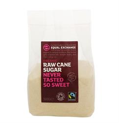 Raw Cane Sugar Org and FT 500g (order in singles or 10 for trade outer)