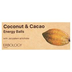 20% OFF Organic Coconut & Cacao Energy Balls 40g (order in multiples of 2 or 24 for retail outer)