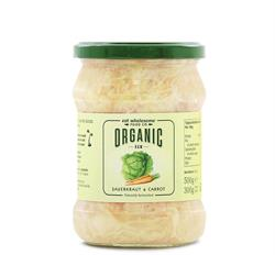 15% OFF Organic Raw Sauerkraut & Carrot 500g