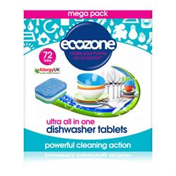 All in one Ultra Dishwasher Tablets - 72 Tablets