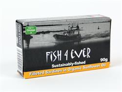 Sardine Fillets in Organic Sunflower Oil 90g (order in singles or 10 for trade outer)