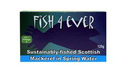 Mackerel in Spring Water 125g (order in singles or 10 for trade outer)