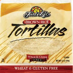 Brown Rice Tortillas Gluten Free 340g (order in singles or 12 for trade outer)