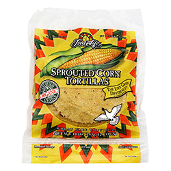 Org Sprouted Whole Corn Tortillas 320g (order in singles or 12 for trade outer)