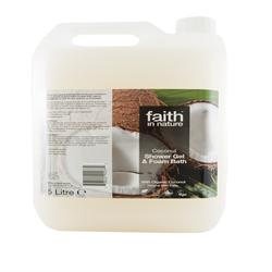 10% OFF Coconut Foam Bath/Shower Gel 5Ltr (order in singles or 2 for trade outer)