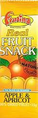 Apricot & Apple Dried Fruit Bar 15g (24 for a case) (order 24 for retail outer)
