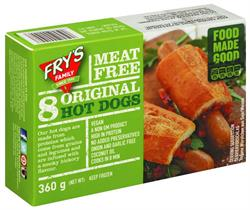 Meat Free Hot Dogs 360g (order in singles or 10 for trade outer)