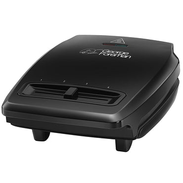 GEORGE FOREMAN Compact Grill | 3 Portion | Black | Variab Temp |