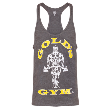 Golds Gym Stringer Joe Premium Vest, S / Grey