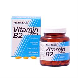 Vitamin B2 (Riboflavin) 100mg - Prolonged Release - 60 Tablets