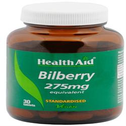 Bilberry 275mg Equivalent - 30 Tablets