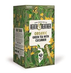 10% OFF Organic Green Tea & Cucumber 20 bags (order in singles or 6 for retail outer)