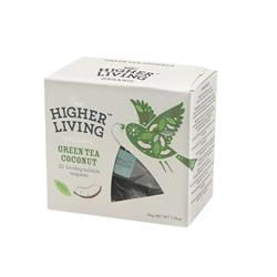 10% OFF Green Tea Coconut Tea - 20 Biodegradable Teapees (order in singles or 4 for retail outer)