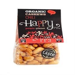 Organic F/T Cashews with Chilli 120g (order in singles or 12 for trade outer)