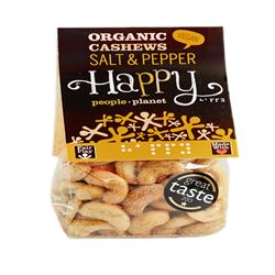 Organic F/T Cashews with Salt & Black Pepper 120g (order in singles or 12 for trade outer)