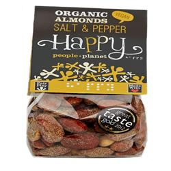 Organic Almonds with Salt & Black Pepper 150g (order in singles or 12 for trade outer)