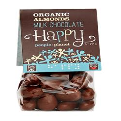 Organic Almonds with F/T Milk Chocolate 150g (order in singles or 12 for trade outer)