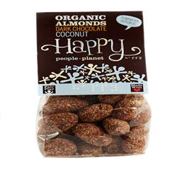 Organic F/T Almonds with Dark Chocolate & Coconut 120g (order in singles or 12 for trade outer)