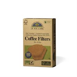 Coffee filters No.4 large unbleached 100 filters (order in singles or 12 for trade outer)