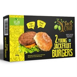 Young Jackfruit Burgers 200g (order in singles or 12 for trade outer)