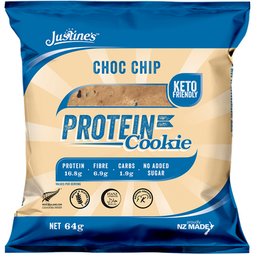 Justine's Cookies Protein Cookie 12x64g / Choc Chip