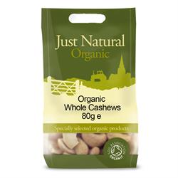 Organic Cashews Whole 80g