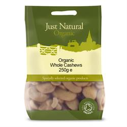 Organic Cashews Whole 250g