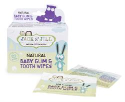 Natural Baby Gum & Tooth Wipes 25 sachets (order in singles or 8 for trade outer)