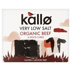 Organic Beef Stock Cubes Very Low Salt 51g (order in singles or 15 for trade outer)