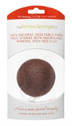 Premium Konjac Face Sponge Red Clay 1 Sponge (order in singles or 6 for retail outer)