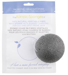 Konjac Face Sponge Charcoal 1 Sponge (order in singles or 12 for retail outer)