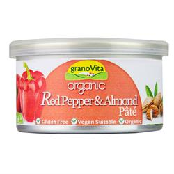 Organic Vegetable Pate with organic red peppers and almonds. (order in singles or 12 for retail outer)