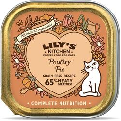 Lily's Kitchen Poultry Pie For Cats 85g (order in singles or 19 for trade outer)