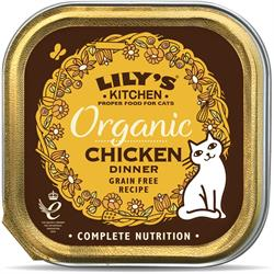 Lily's Kitchen Organic Chicken Dinner for Cats 85g (order in singles or 19 for trade outer)