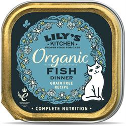 Lily's Kitchen Organic Fish Dinner for Cats 85g (order in singles or 19 for trade outer)