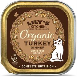 Lily's Kitchen Organic Turkey Dinner for Cats 85g (order in singles or 19 for trade outer)
