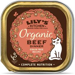 Lily's Kitchen Organic Beef Dinner for Cats 85g (order in singles or 19 for trade outer)