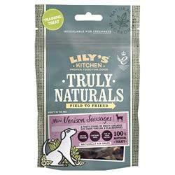Truly Naturals Venison Sausage 60g (order in multiples of 3 or 12 for trade outer)