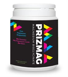 PrizMAG Pure Magnesium Bisglycinate 120 Capsules (order in singles or 12 for trade outer)