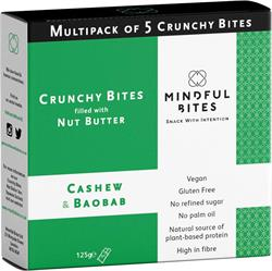 30% OFF Crunchy Bites: Cashew & Baobab Multipack (order in singles or 9 for trade outer)