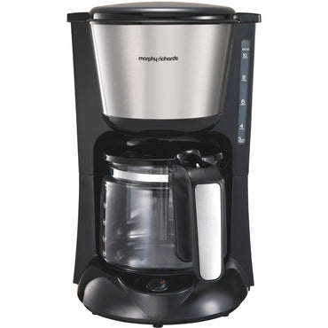MORPHY RICHARDS 1kW  | 1.2L Equip Coffee Machine | S.Stl | Brushed