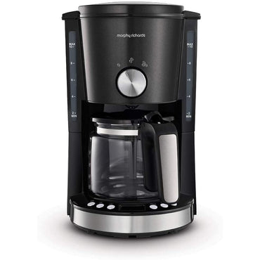 MORPHY RICHARDS 1.25L Filter Coffee Machine | Black evoke | Timer