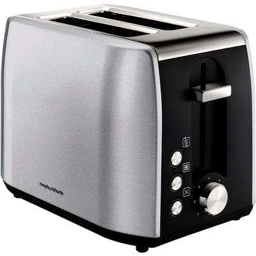 MORPHY RICHARDS Toaster | Equip | 2 Slice | Brushed | Stainless St