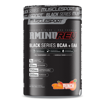 MuscleSport Amino Rev Black Series 390g / Peach Punch