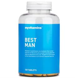 Best Man 120 Tablets (multivitamin for the active male) (order in singles or 16 for trade outer)