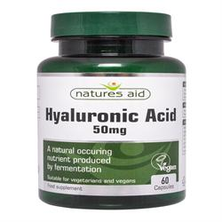 Natures Aid Hyaluronic Acid - 60 Capsules (order in singles or 10 for trade outer)
