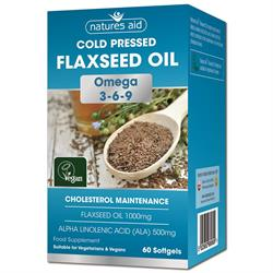 Flaxseed Oil 1000mg - 60 Softgels (order in singles or 10 for trade outer)